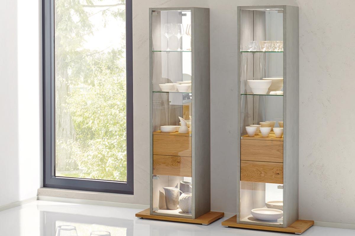 fena vitrine h lsta designm bel made in germany. Black Bedroom Furniture Sets. Home Design Ideas