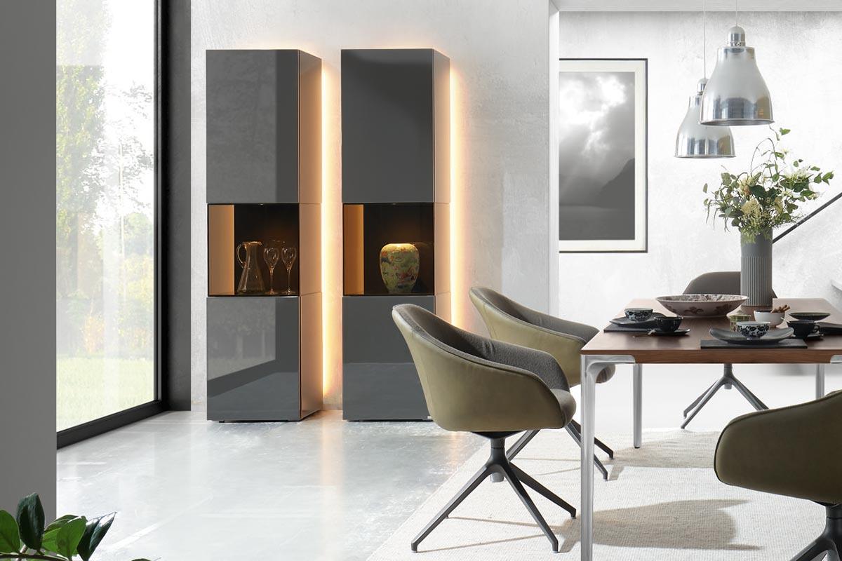 gentis vitrine gro h lsta designm bel made in germany. Black Bedroom Furniture Sets. Home Design Ideas