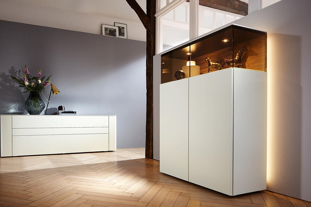 низкие витрины Gentis Hülsta Designmöbel Made In Germany
