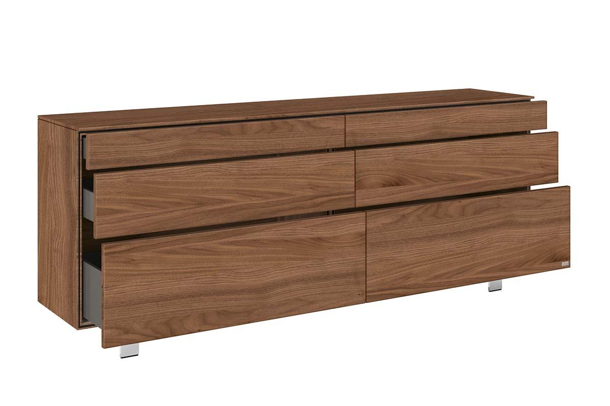 hülsta Neo Wohnen Sideboard mit Metallgestell 980035 Kernnussba