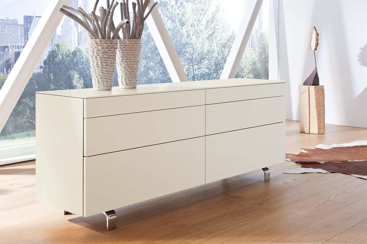 hülsta Neo Wohnen Sideboard 980035 Lack weiß