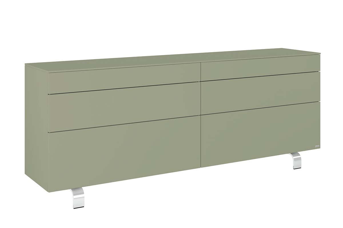hülsta Neo Sideboard mit Kufe 980035 NCS S4010 G50Y