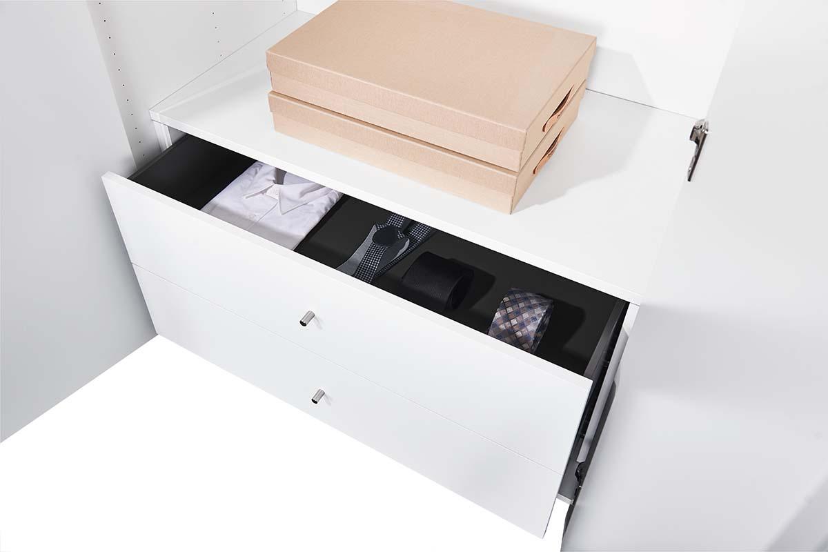 hülsta SOLO Kleiderschrank Inneneinteilung Schubladen