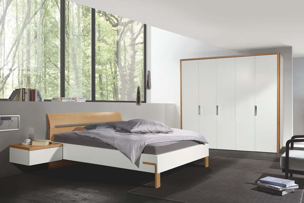 hülsta Dream Schlafzimmer Bett mit Hängekonsole 5-türiger Kle