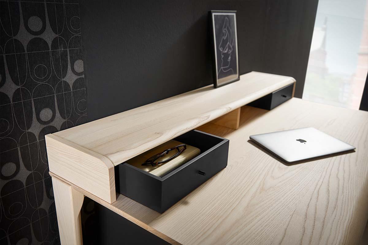 hülsta HOME OFFICE Schreibtisch HO 100 Esche Tischplatte Steckk